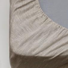 Льняные простыни на резинке